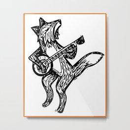 Foxy Folk Metal Print