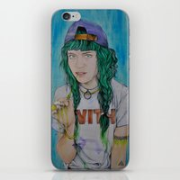 grimes iPhone & iPod Skins featuring Grimes by Jenn