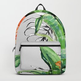Collage of florid nature Backpack