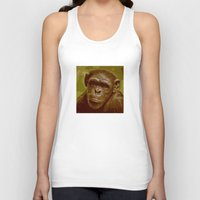 camo Tank Tops featuring camo monkey! by noblackcolor
