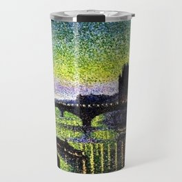The Louvre and Pont du Carrousel at Night by Maximilian Luce Travel Mug