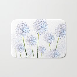 Pretty Flowers in Blue and Violet Bath Mat