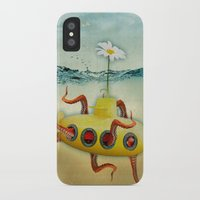 yellow submarine iPhone & iPod Cases featuring yellow submarine in an octapuses garden by Vin Zzep