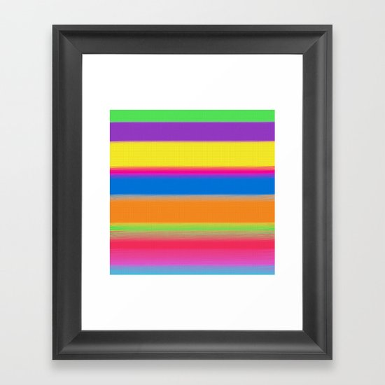 Candy Stripes. Framed Art Print