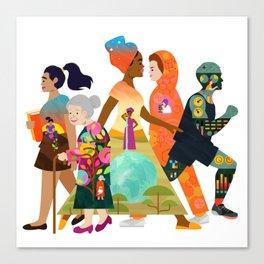 Walks of Life Canvas Print