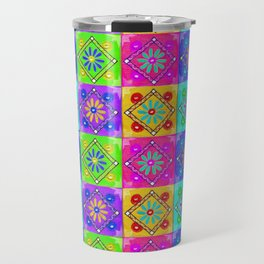 Boho Tapestry Tiles in India Silk Multi Travel Mug