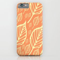 Orange Autumn Leaf Design  iPhone 6s Slim Case