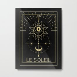 Le Soleil or The Sun Metal Print