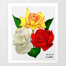 rose triangle Art Print