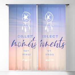 Words to live by - Collect moments Sunset Blackout Curtain