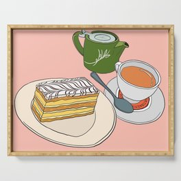 Aftenoon Cake Treat Serving Tray