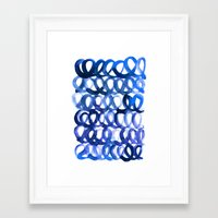 breaking Framed Art Prints featuring Breaking the waves by Picomodi