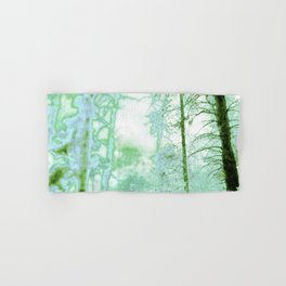 Magical forest in frosty greens Hand & Bath Towel