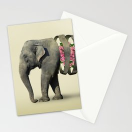 Inner Rose Elephant Stationery Cards