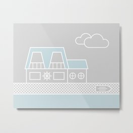 Lagoon House Metal Print