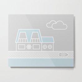 Lagoon House Metal Print