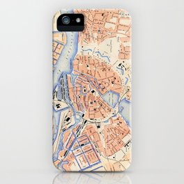 Vintage Map of Hamburg Germany (1888) iPhone Case