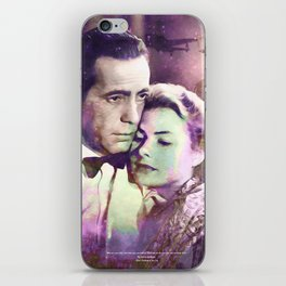 Casablanca | PRINT | Here's looking at you, kid. | Quote | Vintage Style Poster #M44 iPhone Skin