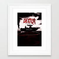dexter Framed Art Prints featuring Dexter by Dan K Norris
