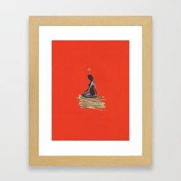 Mysterious Woman Framed Art Print
