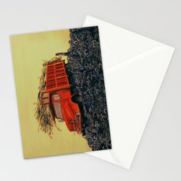 sugar cane and truck on fire Stationery Cards