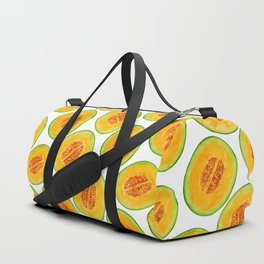 Melon slices watercolor pattern Duffle Bag