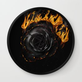 Beauty in Ashes Wall Clock