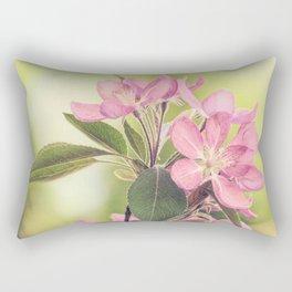 Pink Spring Modern Cottage Chic Flowers Art A460 Rectangular Pillow