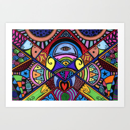 The war between the head and the heart Art Print