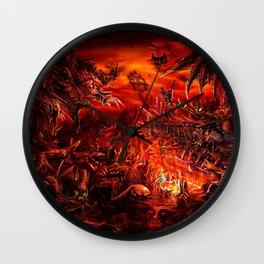 Viking Guitar: Made of Metal Wall Clock