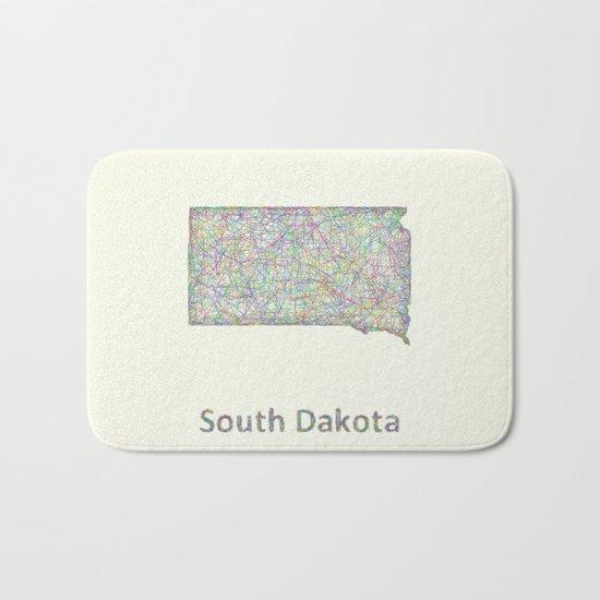 South Dakota map Bath Mat