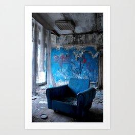 Abandoned place Art Print