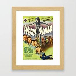 Weird Woman, vintage horror movie poster Framed Art Print