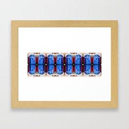 British Blue Police Public Call Box - Mirror 16 Framed Art Print