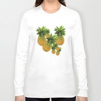 pineapples Long Sleeve T-shirts featuring Pineapples by Erika Kaisersot