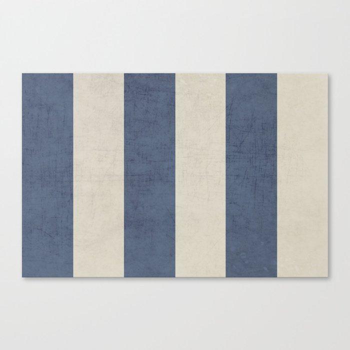 vintage dark blue stripes Canvas Print