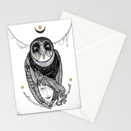 bird women Stationery Cards