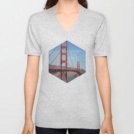 Golden Gate Bridge - Geometric Photography Unisex V-Neck