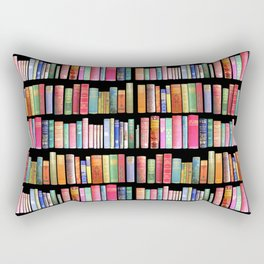 Vintage Book Library for Bibliophile Rectangular Pillow