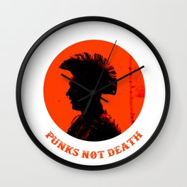Punks not death Wall Clock