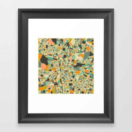 LUSAKA, Zambia Map Framed Art Print