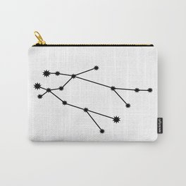 Gemini Star Sign Black & White Carry-All Pouch