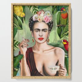 Frida con amigos Serving Tray