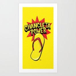 Chancleta Power Brand Art Print