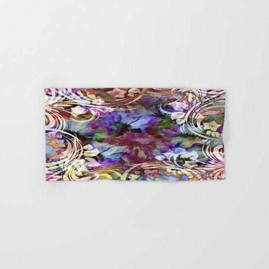 Fancy Midnight Floral Hand & Bath Towel