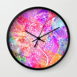 Floral Poly Wall Clock