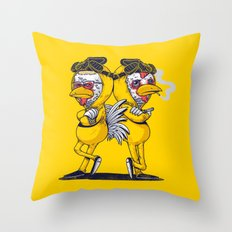 Pollos Throw Pillow