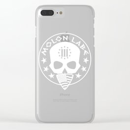 Molon Labe Three Percenter Skull Bandana Clear iPhone Case