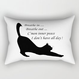 When inner peace eludes one Rectangular Pillow