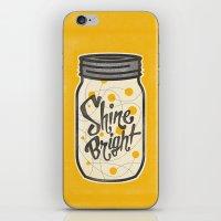 fireflies iPhone & iPod Skins featuring Fireflies by Landon Sheely
